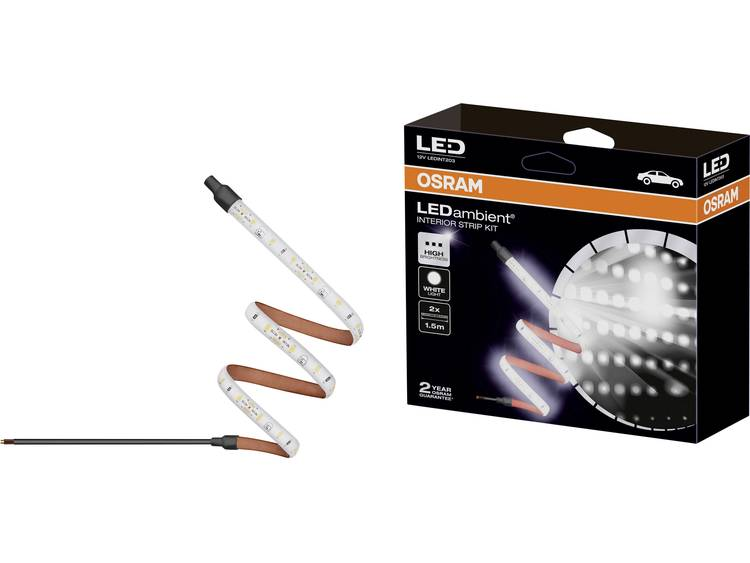 OSRAM LEDINT203 LEDambient Interior Strip Kit LED interieurverlichting, LED strip 12 V LED (l x b x h) 2500 x 8 x 3.2 mm