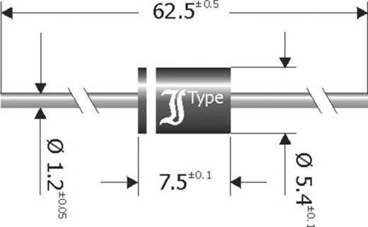 Diotec SB1250 Skottky barrière gelijkrichter diode DO-201 50 V 12 A