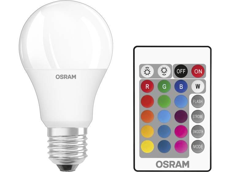 LED-lamp E27 Peer 9 W = 60 W RGBW Incl. afstandsbediening, Colorchanging, Dimbaar OSRAM 1 stuks