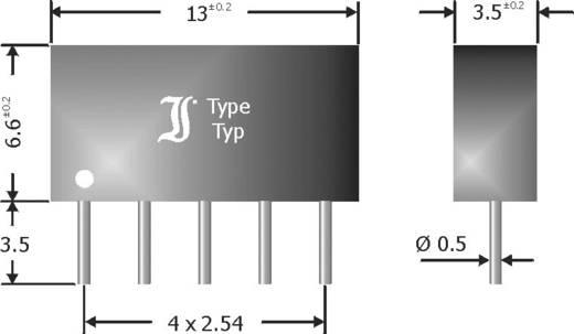 Standaard diode array gelijkrichter 100 mA Diotec DAP401 SIP-5 Array - 4 gemeenschappelijke anode
