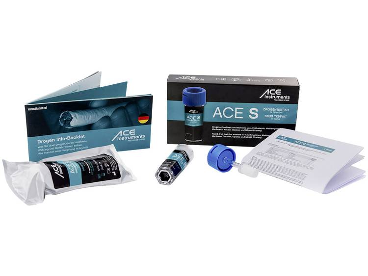 Drugstest kit Speeksel ACE Kit S 100341 Detectie van (drugs)=Amfetamine, Cocaïne, Cocaïne, Methamfetamine, Opiaat, THC