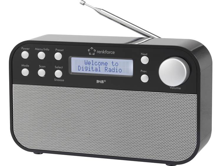 Renkforce RF-DAB-STEREO1 DAB+ Transistorradio DAB+, FM Zwart