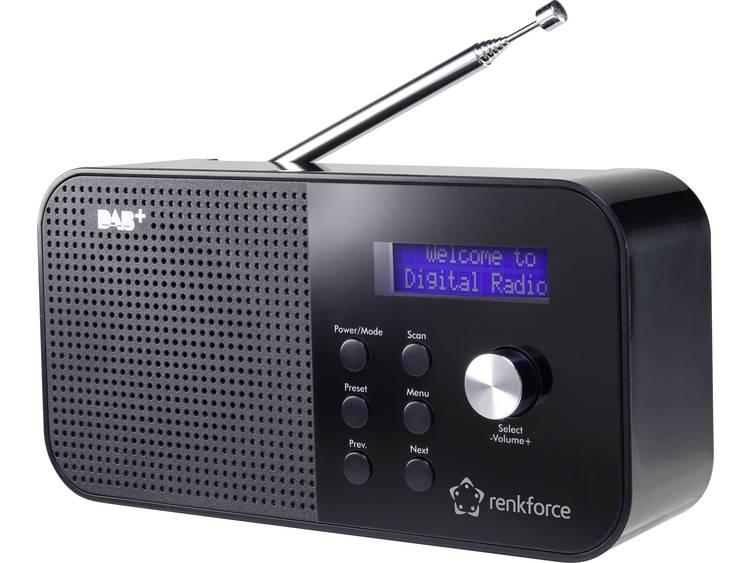 Renkforce RF-DAB-MONO1 DAB+ Transistorradio DAB+, FM Zwart