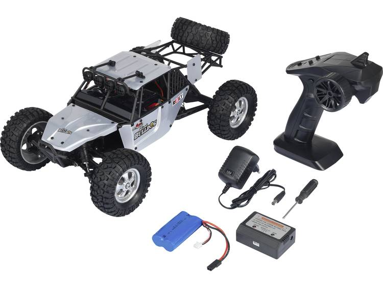 Reely Bulldog Mini 1:10 XS Brushed RC auto Elektro Buggy 4WD RTR 2,4 GHz Incl. accu en lader