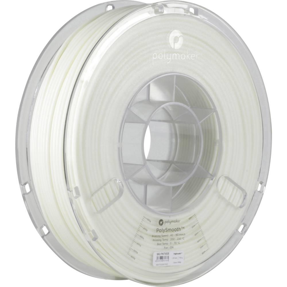 Polymaker 1612101 76938 3D-skrivare Filament 2.85 mm 750 g Vit PolySmooth 1 st