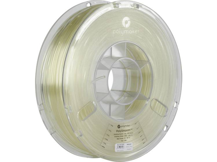 Polymaker 1612129 Filament PolySmooth 2.85 mm Doorschijnend 750 g