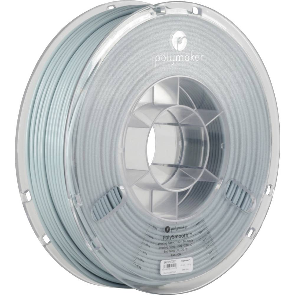 Polymaker 1612139 70521 3D-skrivare Filament 2.85 mm 750 g Grå PolySmooth 1 st