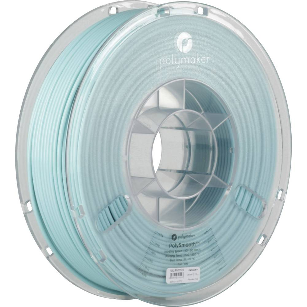 Polymaker 1612141 70509 3D-skrivare Filament 2.85 mm 750 g Smaragdgrön PolySmooth 1 st