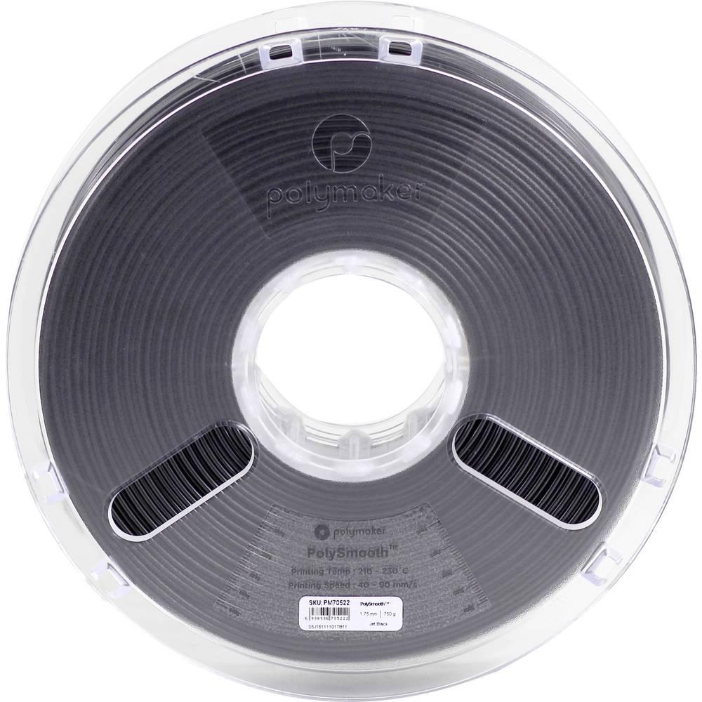 Polymaker 1612145 70522 3D-skrivare Filament 1.75 mm 750 g Svart PolySmooth 1 st