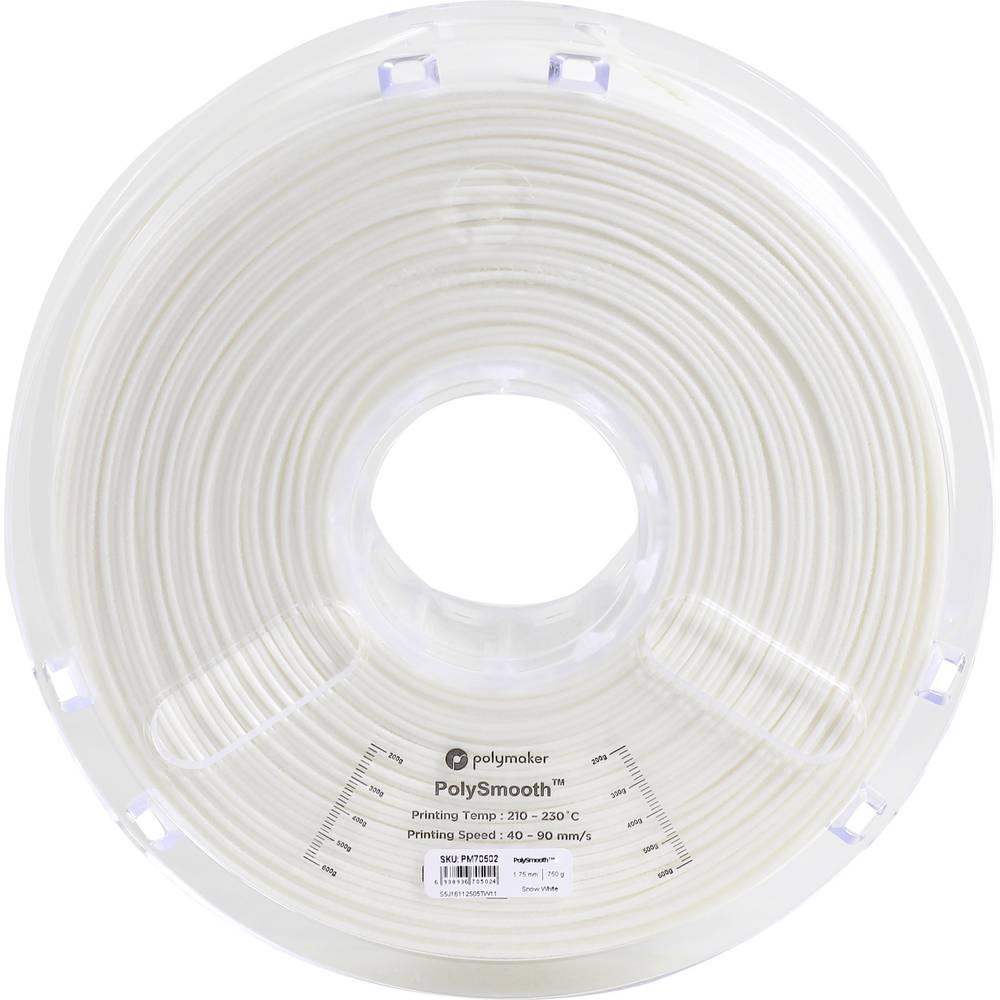 Polymaker 1612149 70502 3D-skrivare Filament 1.75 mm 750 g Vit PolySmooth 1 st