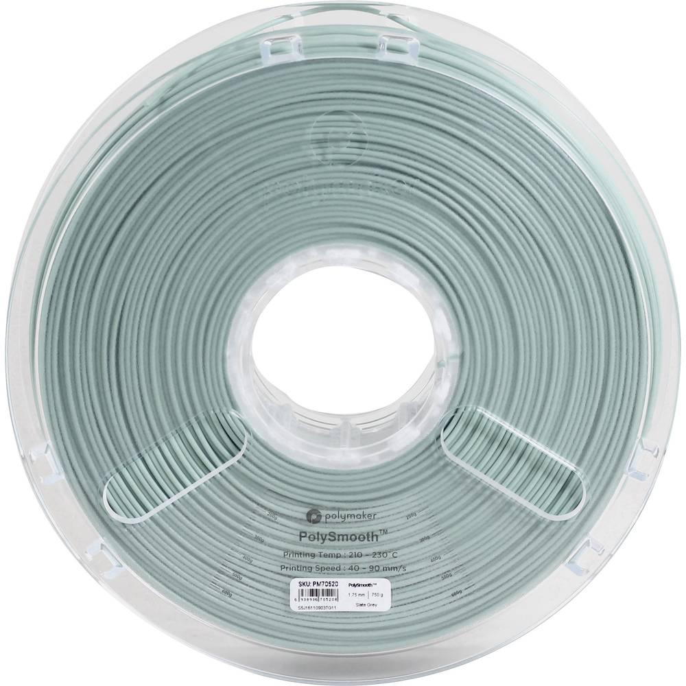 Polymaker 1612150 70520 3D-skrivare Filament 1.75 mm 750 g Grå PolySmooth 1 st