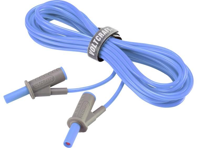 Veiligheidsmeetsnoer [Banaanstekker 4 mm Banaanstekker 4 mm] 5 m Blauw VOLTCRA