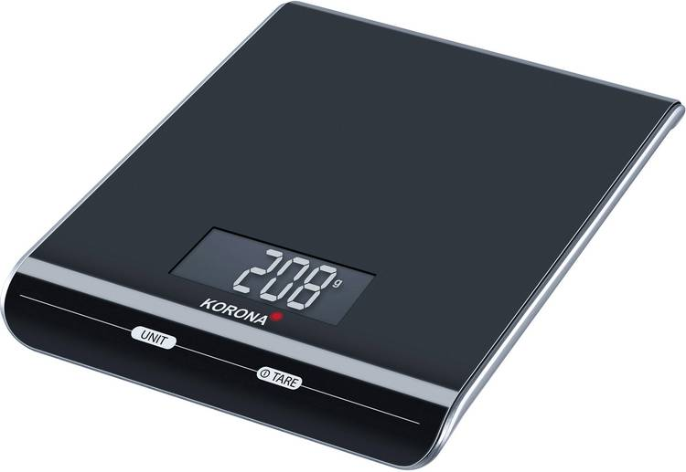 Image of Digitale keukenweegschaal Korona Katja Weegbereik (max.)=3 kg Zwart