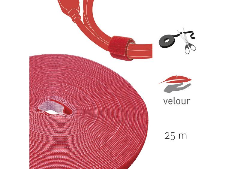 Label the Cable PRO 1260 19 inch Klittenband Rood