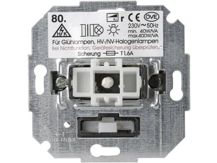 Kopp dimmer voor gloei- en halogeen lamp druk-wissel 40-400W