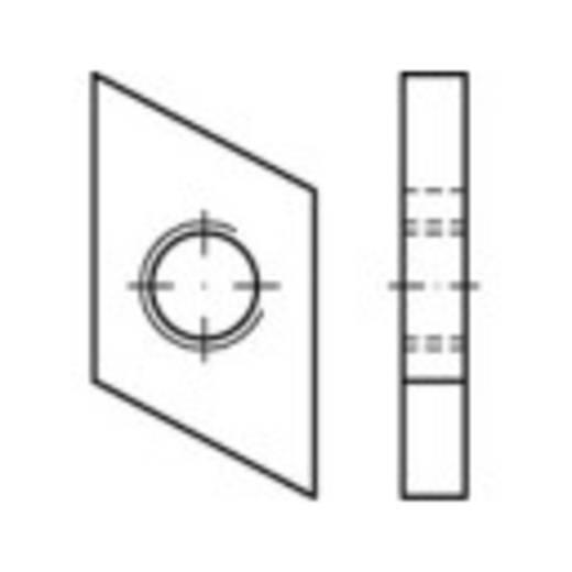 Schroefplaten voor kopbouten M10 Staal galvanisch verzinkt 100 stuks TOOLCRAFT 161554