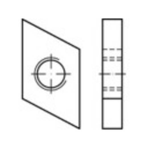 Schroefplaten voor kopbouten M6 Staal galvanisch verzinkt 100 stuks TOOLCRAFT 161555