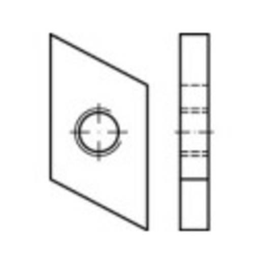 Schroefplaten voor kopbouten M10 Staal galvanisch verzinkt 100 stuks TOOLCRAFT 161563