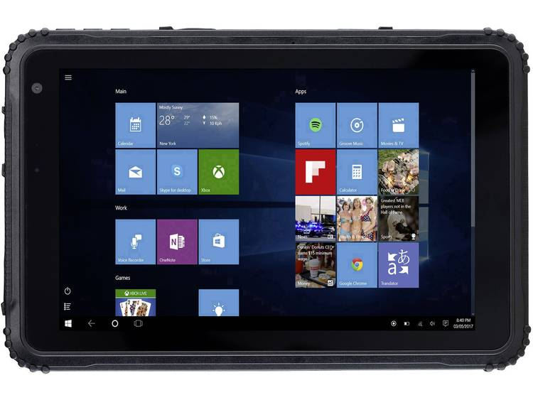 CAT T20 Windows-tablet 20.3 cm (8 inch) 64 GB GSM/2G, UMTS/3G, LTE/4G, Wi-Fi Zwart 1.44 GHz Quad Core