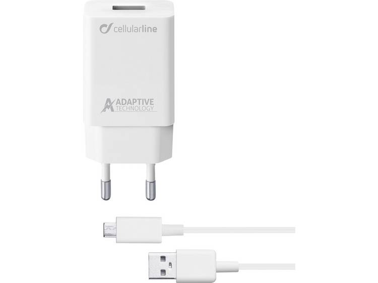 USB-oplader Cellularline ACHSMKIT15WMUSBW 39223 (Thuislader) Uitgangsstroom (max.) 2400 mA 1 x USB 2