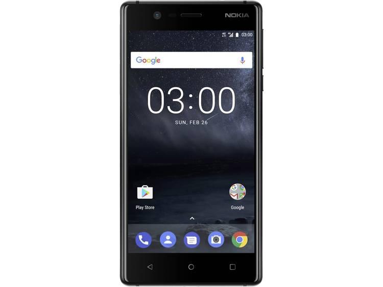 Nokia 3 Single-SIM LTE smartphone 12.7 cm (5 inch) 1.3 GHz Quad Core 16 GB 8 Mpix Android 7.0 Nougat Zwart