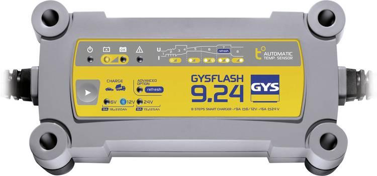Druppellader GYS GYSFLASH 9.24 6 V. 12 V. 24 V 9 A 9 A 6 A