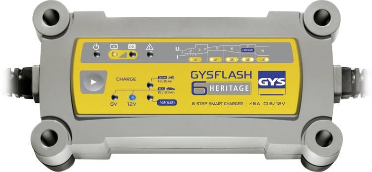 Druppellader GYS GYSFLASH HERITAGE 6A 12 V. 6 V 0.8 A 6 A