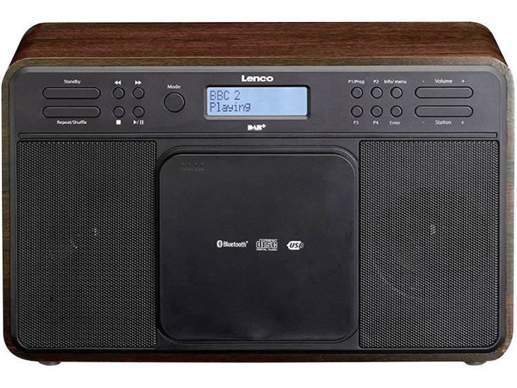 Lenco DAR-040 DAB+ Tafelradio AUX, CD, DAB+, Bluetooth, FM, USB Walnoot