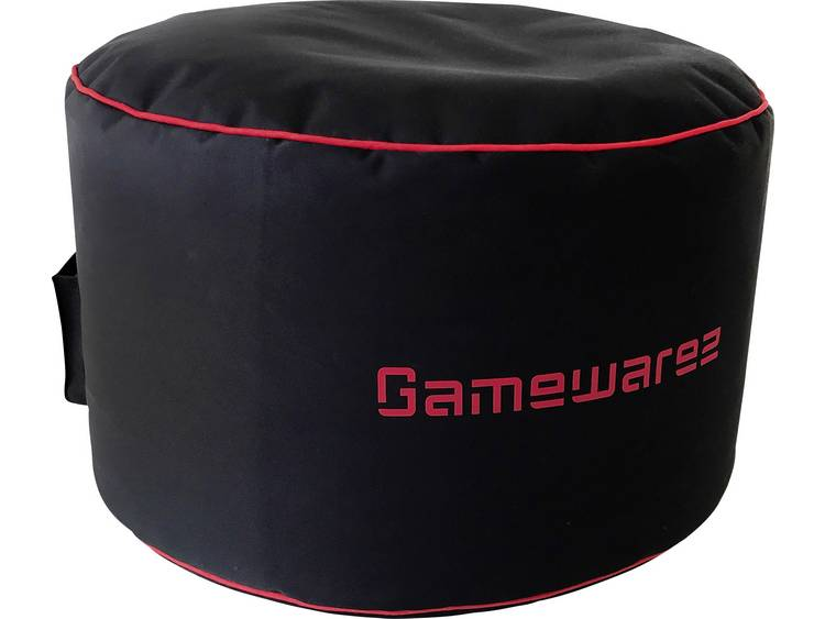 GAMEWAREZ Crimson Station Gaming hocker Zwart, Rood