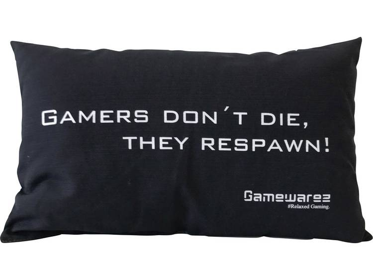 GAMEWAREZ GAMERS DONT DIE, THEY RESPAWN! Kussen Zwart