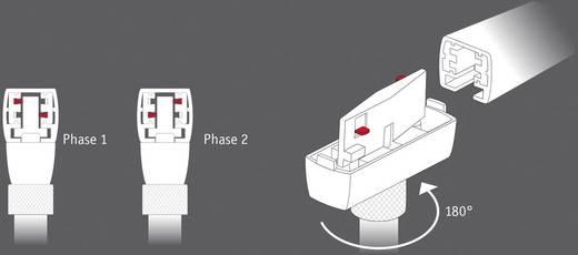 Paulmann Link 230V-railsysteem lamp VariLine (2fasig) LED vast ingebouwd 10 W LED Chroom (mat), Zwart (mat)