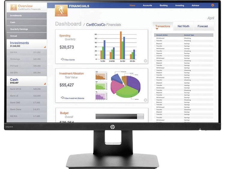 HP VH240A LED-monitor 60.5 cm (23.8 inch) Energielabel A (A++ – E) 1920 x 1080 pix Full HD 5 ms HDMI, VGA IPS LED