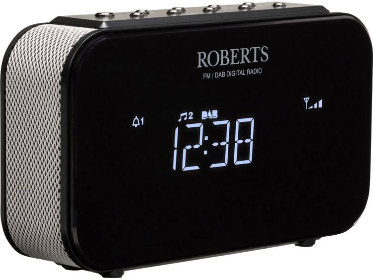 Roberts Ortus 1 FM Wekkerradio AUX Zwart