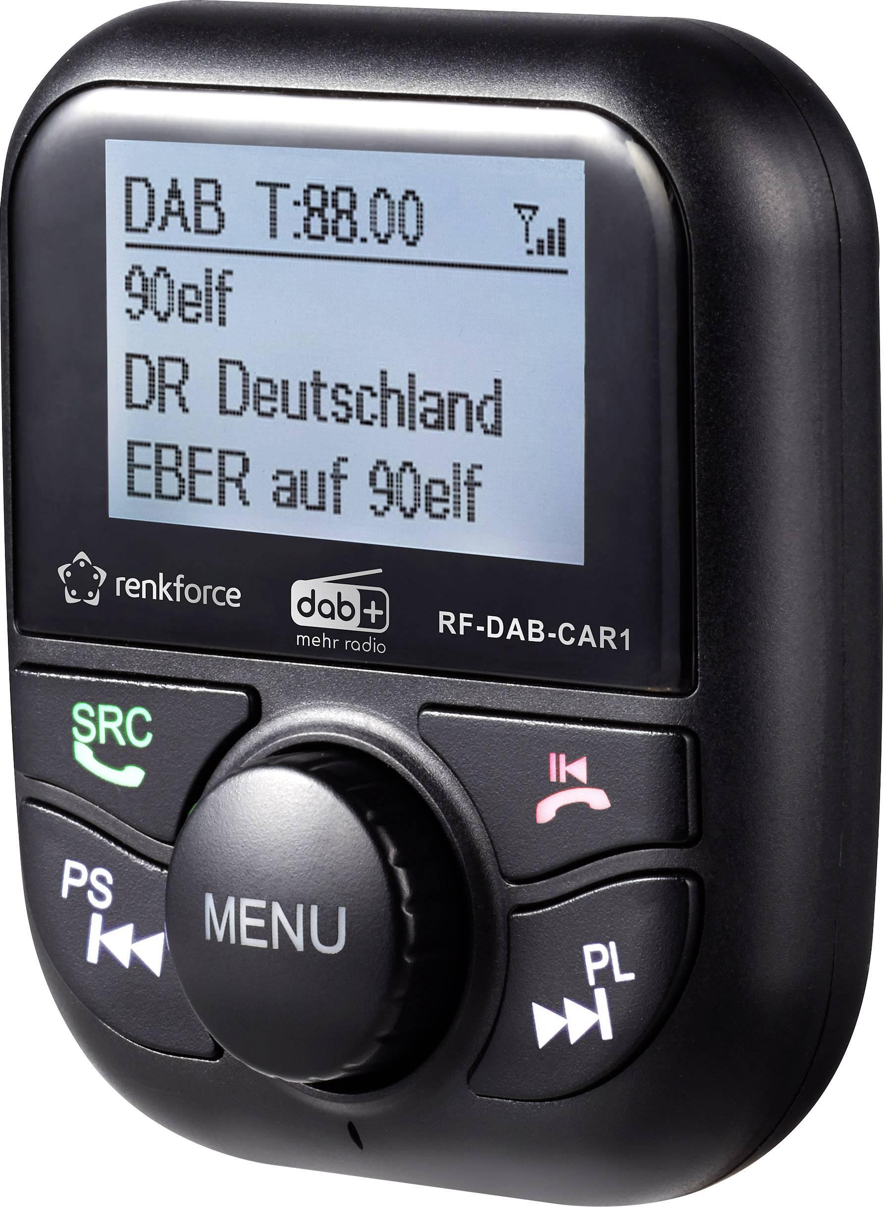 Smarte ressurser FM-transmitter Renkforce RF-DAB-CAR1 DAB+ tuner | Conrad.nl UA-87