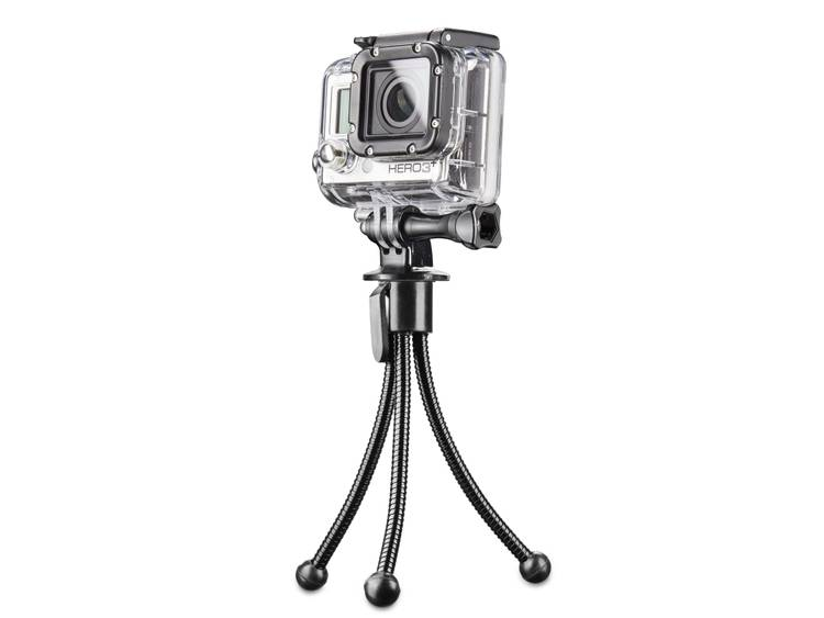 Mantona Ministatief 1 4 inch Werkhoogte=12 cm Zwart Voor smartphones en GoPro i