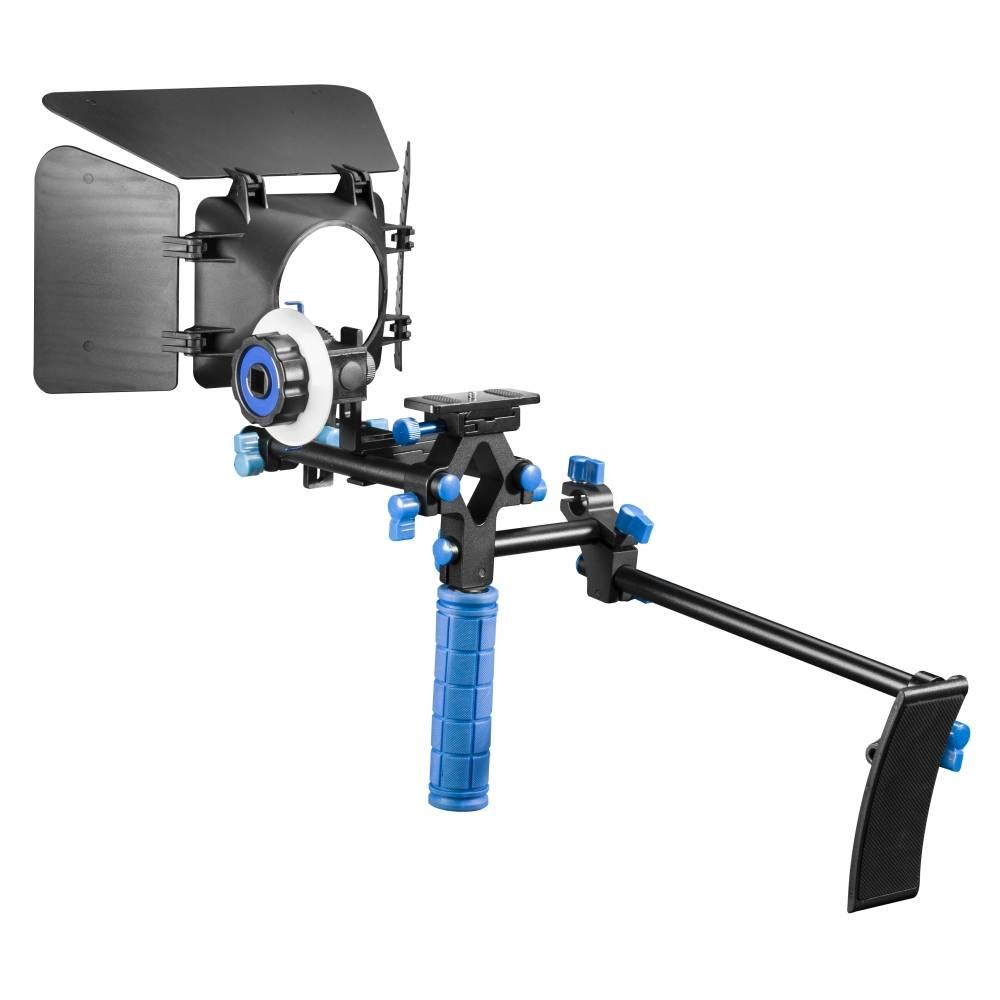 Walimex Pro Video Set Starter Specialstativ 1/4 Svart, Blå Tillåten belastning upp till vikt 8 kg