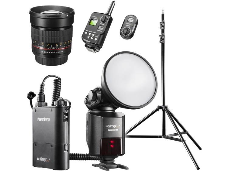 Externe flitser Walimex Pro Geschikt voor: Canon Richtgetal bij ISO 100/50 mm: 80