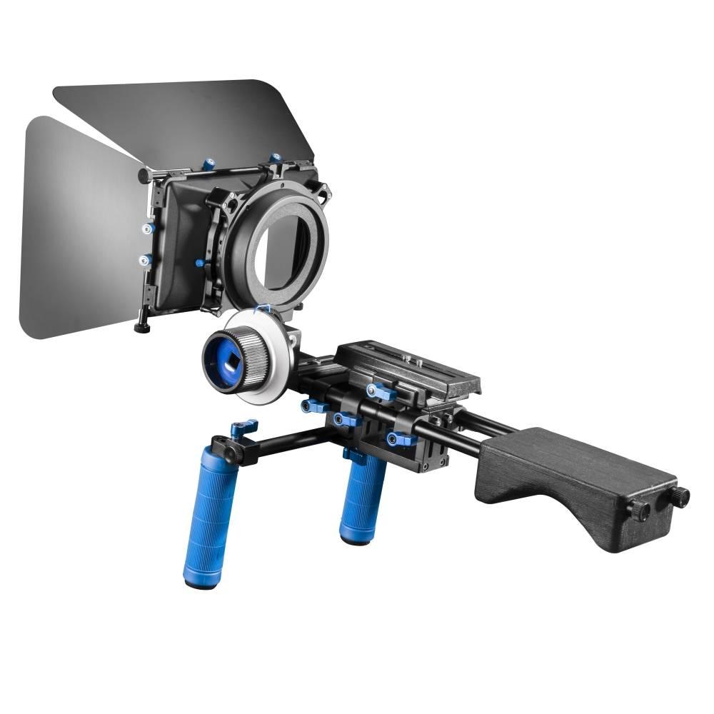 Walimex Pro Video Set Semi-Pro Specialstativ Svart, Vit, Blå med motvikt Tillåten belastning upp till vikt 26 kg