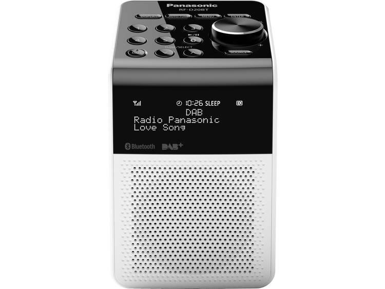 Panasonic RF-D20BTEG DAB+ Wekkerradio Bluetooth, DAB+, FM Spatwaterbestendig Wit
