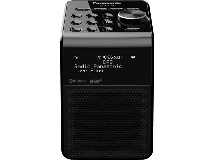 Panasonic RF-D20BTEG Wekkerradio DAB+, FM Bluetooth Spatwaterbestendig Zwart