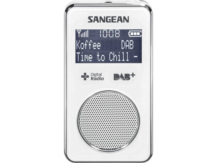 Sangean DPR-35 DAB+ Zakradio DAB+, FM Herlaadbaar Wit
