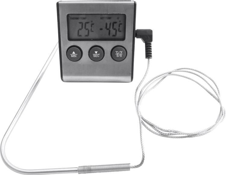 Grillthermometer RVS. Zwart tepro Garten Digitales Grill- Bratthermometer
