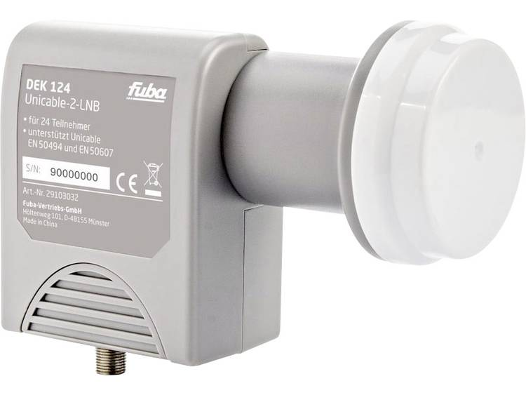 fuba DEK 124 Unicable-LNB Aantal gebruikers: 24 Feed-opname: 40 mm Weerbestendig