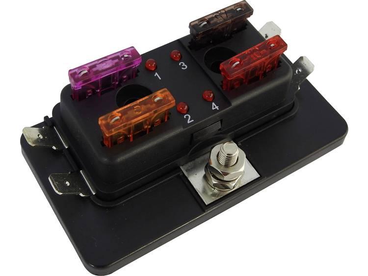 SecoRüt FHA504 LED Stroomkringverdeler Platte zekering standaard Aantal polen 4 30 A 1 stuks