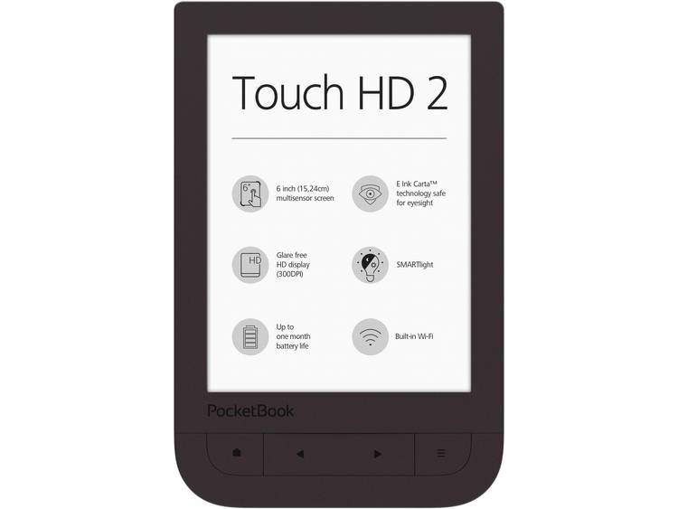 PocketBook Touch HD 2 eBook-reader 6 inch (15.2 cm) Donkerbruin