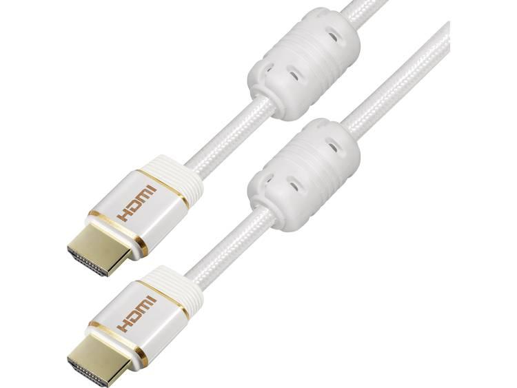 HDMI Kabel Maxtrack C 216-1,5 L [1x HDMI-stekker - 1x HDMI-stekker] 1.5 m Wit