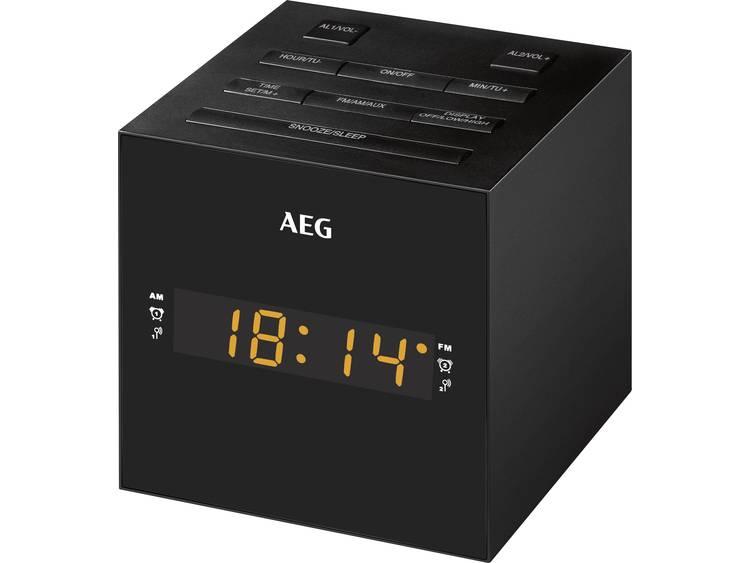 AEG MRC 4150 FM Wekkerradio USB Zwart