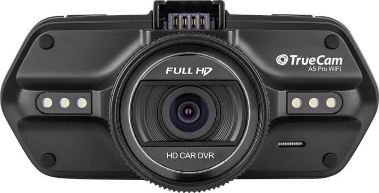 TrueCam A5 PRO WIFI Dashcam met GPS Kijkhoek horizontaal (max.): 110  12 V. 24 V WiFi. Display. Accu. Microfoon