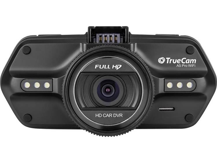 TrueCam A5 PRO WIFI Dashcam met GPS Kijkhoek horizontaal (max.) 110 ° 12 V, 24 V WiFi, Display, Accu, Microfoon