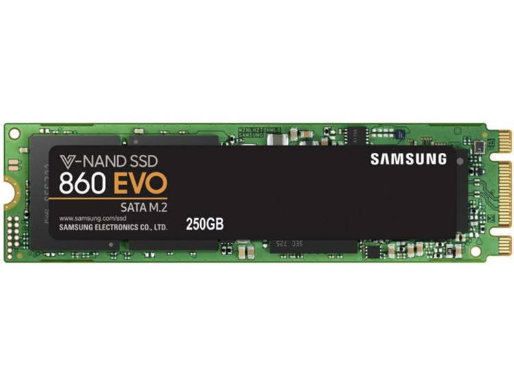 SATA M.2 SSD 2280 harde schijf 250 GB Samsung 860 EVO Retail MZ-N6E250BW M.2